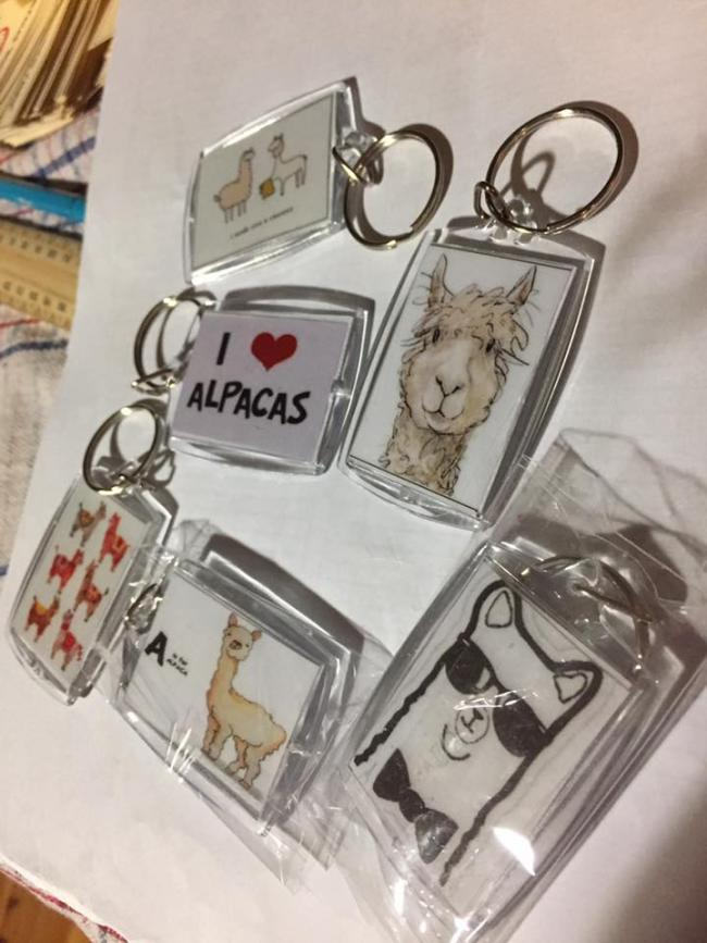 Alpaca Key Rings