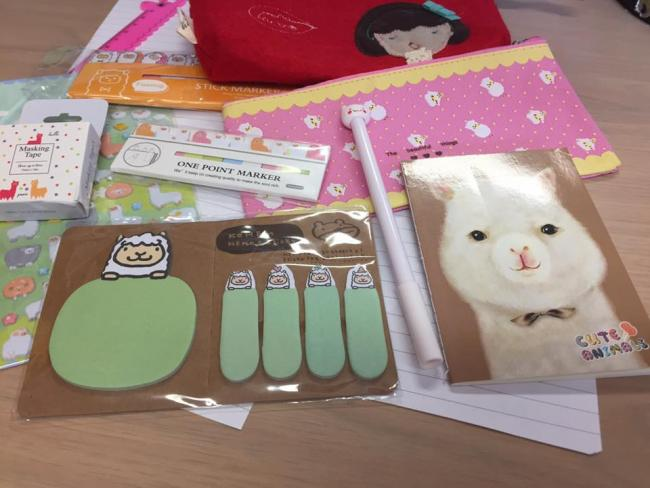 Alpaca Stationery Items