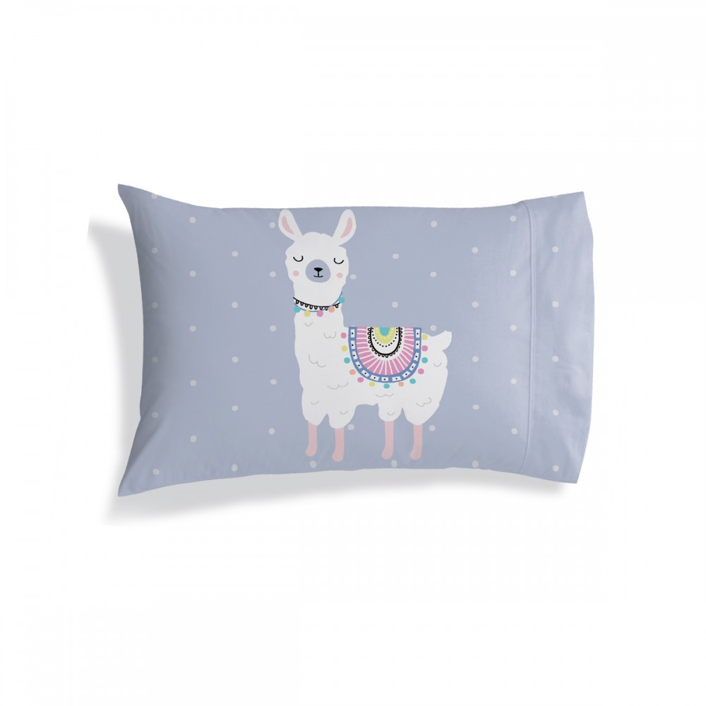 RubeyLiza - Pillowcase - Alpaca/Lllama Design -Light Blue