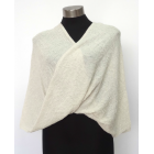 Twisted Wrap - Poncho Like - Cream - 100% Alpaca