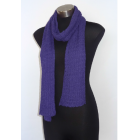 Lacy Knit Scarf - 100% Alpaca - Purple