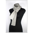 Alpaca Scarf - Pie De Pool - 100% Alpaca - Grey & White