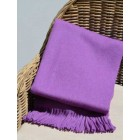 Alpaca Woven Throw Rug - Purple