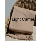 Alpaca Woven Throw Rug - Light Camel