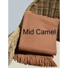 Alpaca Woven Throw Rug - Mid Camel