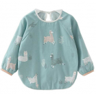 Alpaca Printed Baby Over Shirrt - Bib Blue
