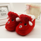 Alpaca Inspired Baby Shoes - Red