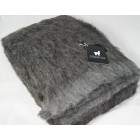 Australian Brushed Alpaca Throw Rug - Grey Plain