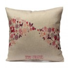 RubeyLiza Christmas Linen Cushion - Merry Christmas