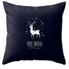 RubeyLiza Christmas Cushion - Black Reindeer
