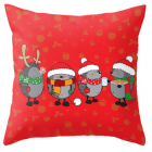 RubeyLiza Christmas Linen Cushion - Christmas Cocoa
