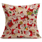 RubeyLiza Christmas Linen Cushion - Gaggle of Santas