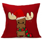 RubeyLiza Christmas Linen Cushion - Kid Reindeer