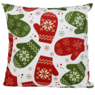 RubeyLiza Christmas Linen Cushion - Christmas Mittens