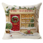 RubeyLiza Christmas Linen Cushion - Bakery