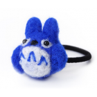 RubeyLiza Felted Hair Tie - Blue Totoro