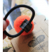 RubeyLiza Felted Hair Tie - Orange Cherry Image