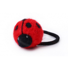RubeyLiza Felted Hair Tie - Red Lady Bug