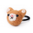 RubeyLiza Felted Hair Tie - Mouse