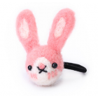 RubeyLiza Felted Hair Tie - Pink Rabbit
