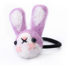 RubeyLiza Felted Hair Tie - Purple Rabbit