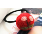 RubeyLiza Felted Hair Tie - Red Cherry Image