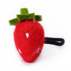 RubeyLiza Felted Hair Tie - Red Strawberry