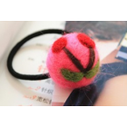RubeyLiza Felted Hair Tie - Hot Pink Cherry Image
