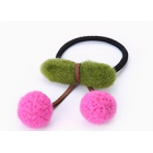 RubeyLiza Felted Hair Tie - Hot Pink Cherry