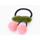 RubeyLiza Felted Hair Tie - Pink Cherry