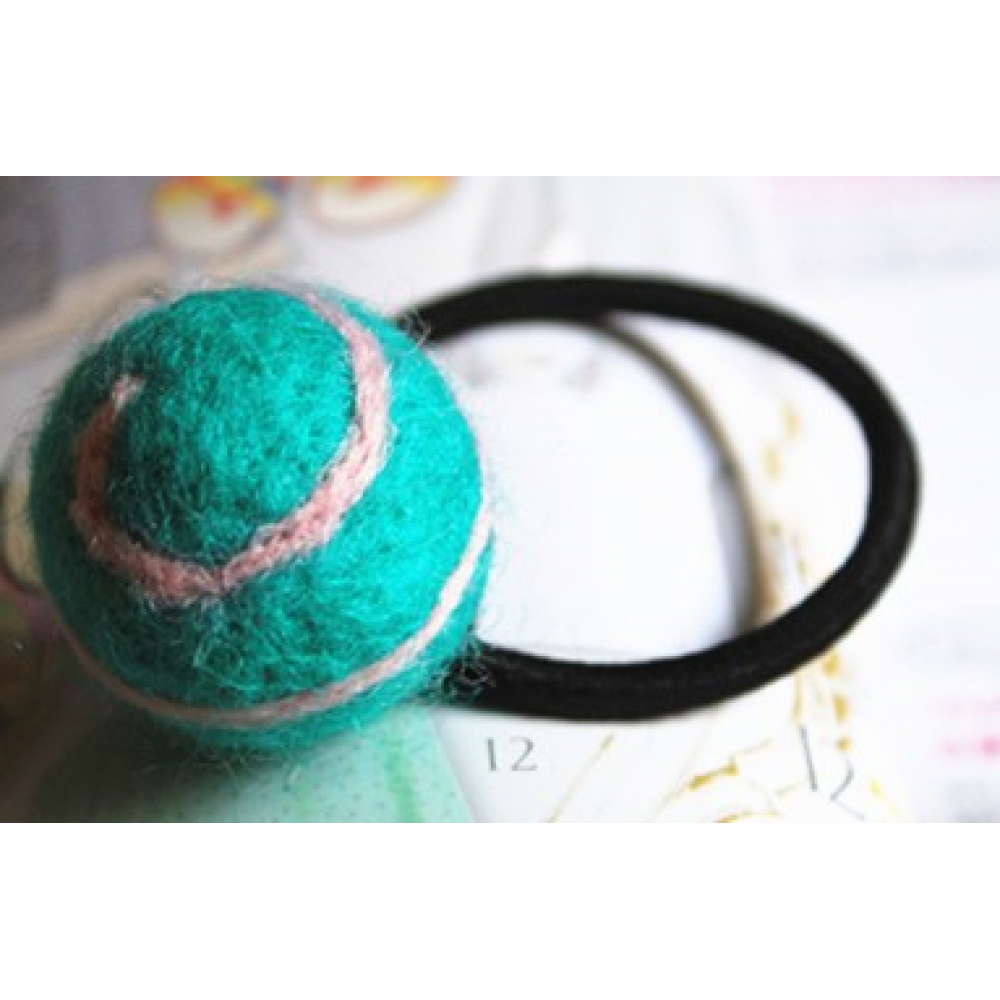 RubeyLiza Felted Hair Tie - Lollipop Swirl - Cool Mint