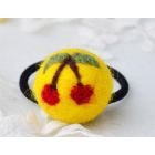 RubeyLiza Felted Hair Tie - Yellow Cherry Image