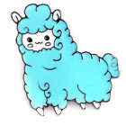 Alpaca Lapel Pin - Alpaca Blue