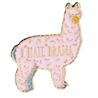 Alpaca Lapel Pin - I hate Drama