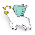 Alpaca Lapel Pin - Flying Unicorn Alpaca