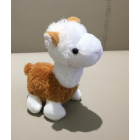 Cute Colourful Alpaca Plush Key Chain - Brown