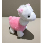 Cute Colourful Alpaca Plush Key Chain - Pink
