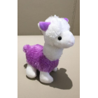 Cute Colourful Alpaca Plush Key Chain - Purple