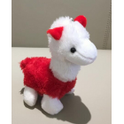 Cute Colourful Alpaca Plush Key Chain - Red