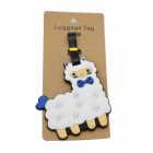 ALPACA THE BAG - Luggage Tags - White with Blue Bowite