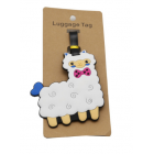 ALPACA THE BAG - Luggage Tags - White with Pink Bowtie