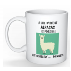 Coffee Mug - Life without Alpacas - Possible - but Pointless