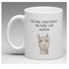 Coffee Mug - More I meet People - the more I like Alpacas