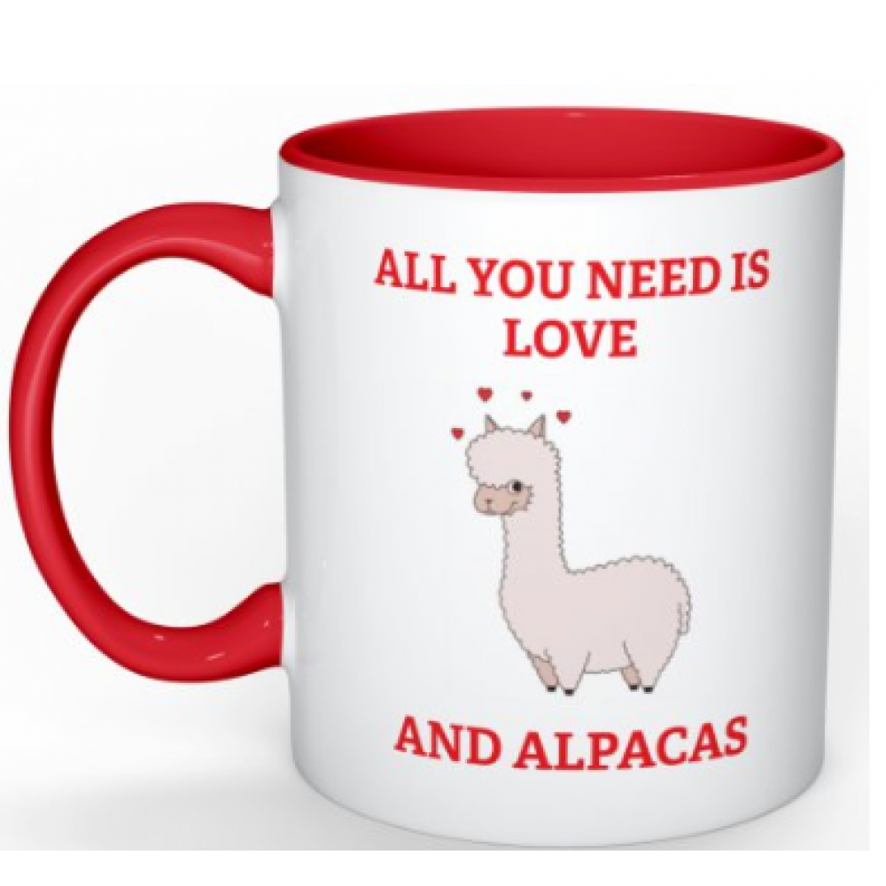 Coffee Mug - All you need is love ..... and Alpacas