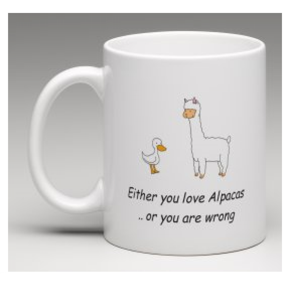 Coffee Mug - You either like or Alpacas - or you are wrong
