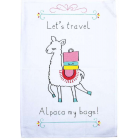 Alpaca Printed Linen Tea Towel - Time for Travel
