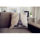 RubeyLiza Vintage Paris -  Eiffel Tower Cushion 45x45cm