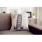 RubeyLiza Vintage - Tower of Pisa Cushion 45x45cm