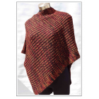 Alpaca/Wool Asymmetrical Poncho - Burnt Orange