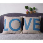 RubeyLiza BLUE LO VE Cushions 45x45cm (Pair Only)
